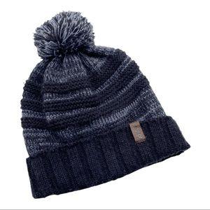 Adidas Climawarm Black & Grey Pom Pom Beanie Knit Winter Fleece Lined Hat OS
